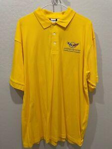Corvette C5 NCM Polo Embroidered Clique XL Shirt Yellow