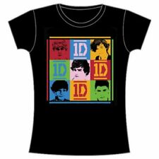 One Direction Ladies Tee: 9 Squares with Skinny Fitting