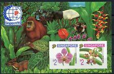 Singapur Block 33 B postfrisch, Briefmarkenausstellung SIGAPORE' 95 Orchideen