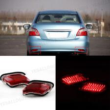 2x Car LED Rear Bumper Light Reflector Tail Lamp For Toyota Vios Sedan 2007-2012