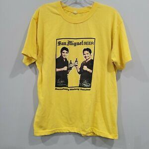 Rare VTG San Miguel Beer Philippines Manny Pacquiao Morales Boxing Shirt Men M