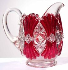 EAPG - Robinson No. 1 - FAGOT -  Ruby Stained Creamer