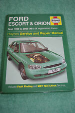HAYNES MANUAL FORD ESCORT & ORION petrol only - not RS2000 or Cosworth