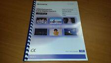SONY Nex 7 fotocamera digitale completamente STAMPATA Manuale di Istruzioni User Guide 211 pagine