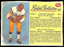 1963 POST CFL FOOTBALL #70 RALPH GOLDSTON VG HAMILTON TIGER CATS YOUNGSTOWN UNIV