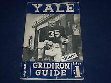 1951 YALE OFFICIAL GRIDIRON GUIDE - FOOTBALL PHOTOS - SCHEDULES - II 9534