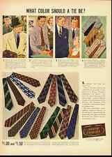 ARROW CRAVATS-ARROW ties Vintage Ad-Life 1937 (100911)