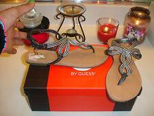 Guess lovebug black silver sandal thong versatile quality nice $60 6.5