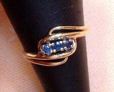 Exclusiver Ring mit Saphiren - 14 Kt. Gold - 585 - Brillant Schliff - Grösse 54