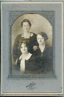 Antique Photo - Roundup, Montana Mother & 2 Daughters