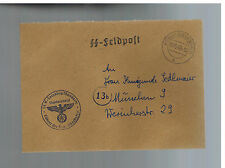 1940 Germany Buchenwald Concentration Camp KZ Guard Cover Waffen SS Feldpost