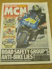 MCN - MOTORCYCLE NEWS - ANTI BIKE LIES - 8 Nov 2005