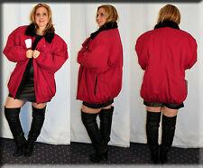 New Red Tapeta Rain Jacket Black Rabbit Fur Lining Size 2XL 16 18 Efurs4less