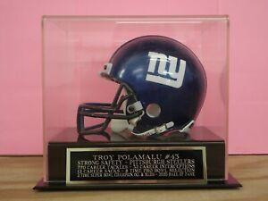 Troy Polamalu Football Mini Helmet Display Case W/ A Steelers Engraved Nameplate