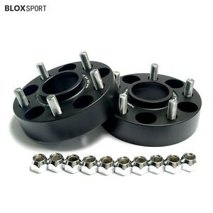 """2X 1.5"""" Black Aircraft Aluminum 5x5 Jeep Hubcentric Wheel Spacers Grand Cherokee"""