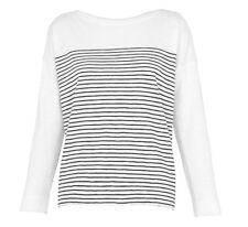 Whistles - Breton Stripe Tee - White/Navy - New with tag - Size M 12/14