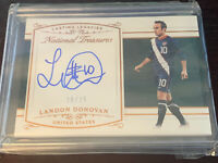 Landon Donovan Lasting Legacies /25 National Treasures Auto Autograph On Card