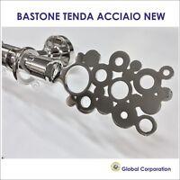 BASTONE TENDA NEW MODERNO ACCIAIO BASTONI PER TENDE BASTONI TENDA RILOGA BINARIO