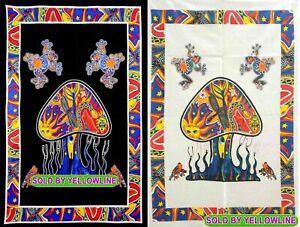 2 piece Mushroom Tapestry Bohomen Indian Wall Hanging Wholesale (77cmX102cm)BW-3