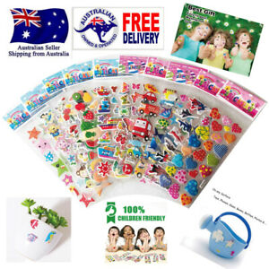5 sheets 3DPuffy Foam Bubble Cartoon Stickers for Kids Gifts early Education