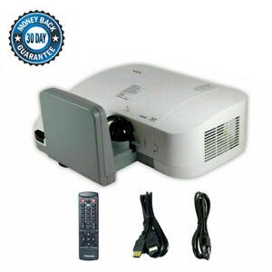 NEC U300X DLP Projector Ultra-Short-Throw 3000 LM HD HDMI 1080i Remote - bundle