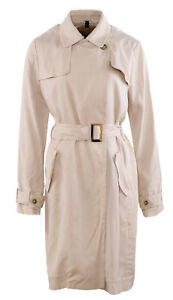 MASSIMO DUTTI Women's Coat Size XS Belted Trench Coat