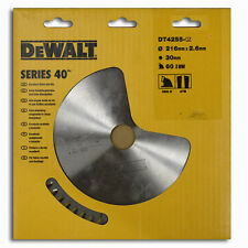 DeWalt Series 40 Circular Saw Blade 216mm x 2.6mm x 30mm 60 Teeth DT4255