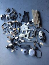 1995 KTM550 Parts Lot Radiator Brake Transmission Chain Guide Axle Footpegs Misc