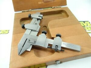 NICE! STARRETT PRECISION GEAR TOOTH VERNIER CALIPERS NO. 456-A 20-2 DP
