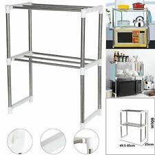 2 Tier Microwave Oven Rack Stand Stainless Steel Shelf Kitchen Storage Organiser