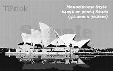 TOYBRICK - DIY Custom Mosaic Art 64X96 or 96x64 STUDS - Monochrome Style
