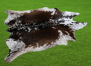 """100% New Cowhide Rugs Area Cow Skin Leather (52"""" x 50"""") Cow hide WWL-60"""