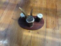 Vintage Stag Horn Cruet Set
