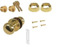 MARKS 22AC DOOR MORTISE LOCK TRIM SET - POLISHED BRASS