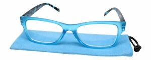 Calabria Morgan Rectangle Designer Reading Glasses 52mm Leopard Tortoise Marble