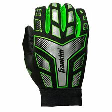 Franklin Sports Football Receiver Gloves Elastic Compression Wrist, Youth Large