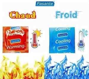Lot de 20 préservatifs Pasante sensation CHAUD/FROID Warming Cooling