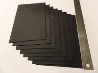 Upholstery Leather Scrap 6 x 9 inches Black 1 Piece