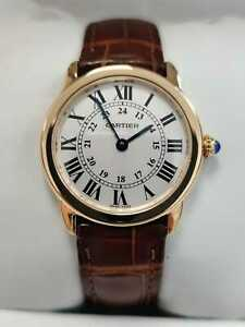 Cartier Ronde Solo 18K Rose Gold Small Ladies Watch 2015 (006)