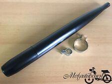Auspuff schwarz Hercules Prima 2 3 4 5 Mofa NEU Herkules 28mm Optima P3 GT NEU