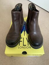Women's Fly London Dark Brown Ankle Boots - UK 4 (37) Used