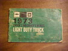 Chevrolet GMC 1973 Owners and Drivers Manual Light Duty Trucks Gasoline Used