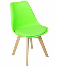 REBOXED 2x Dining Office Lounge Modern Chair Pair Wooden Kitchen Furniture Green