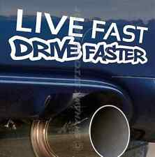 Live Fast Drive Faster Bumper Sticker Vinyl Decal For Honda Vtec Muscle Car JDM