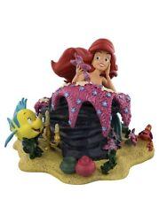 Disney Parks Ariel and Friends Flounder Sebastian Figurine Statue New 2018