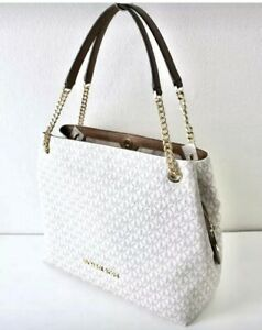 Michael Kors Bag Jet Set Item LG Chain Shldr Tote Bag Vanilla 35F8GTTE3B