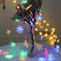 2/3M String Lights Snowflake Xmas Tree Christmas Party Home Warm Lamp Decor