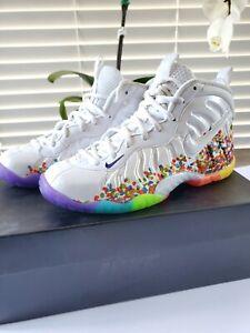 Nike Little Posite Fruity Pebbles Foamposite Pro 644792-101 Size 5.5Y White