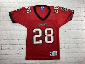 VINTAGE 90s NFL Warrick Dunn Tampa Bay Buccaneers Jersey Kids Size 8 Football