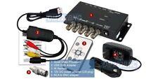 Multiplexor de video USB de 4 Canales Grabadora DVR con receptor remoto de infrarrojos